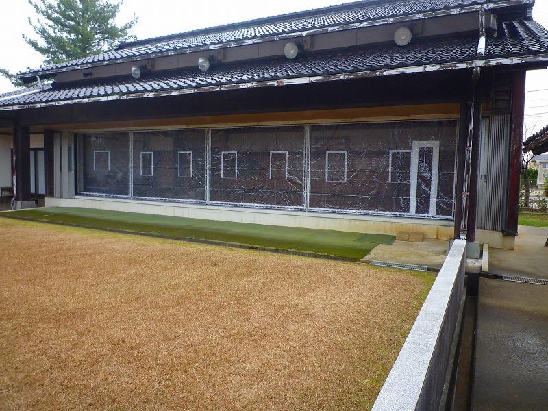 羽咋市弓道場ビニール防風シート