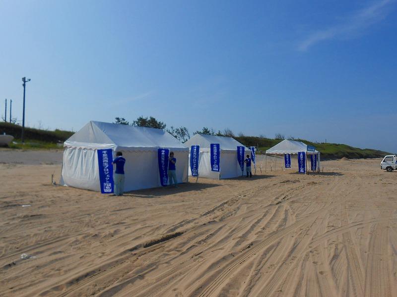 2間×3間テントで更衣室