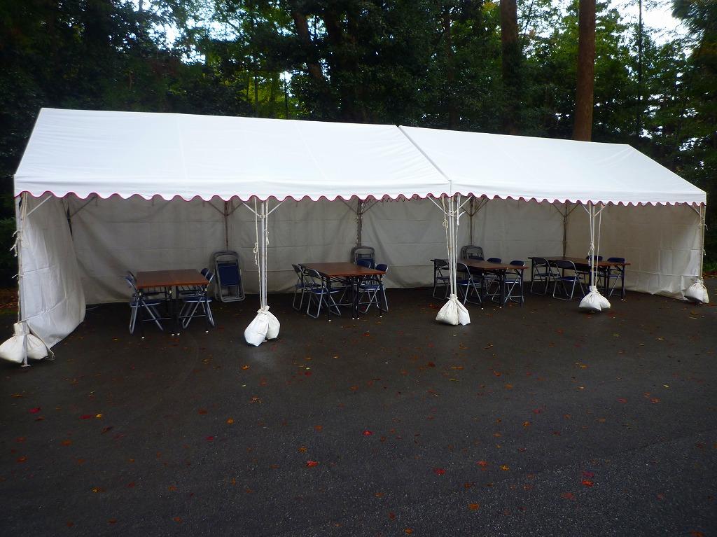 2間×3間のテント