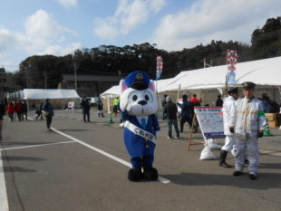志賀町第7回大漁起舟祭でハク太郎くんのタスキです。