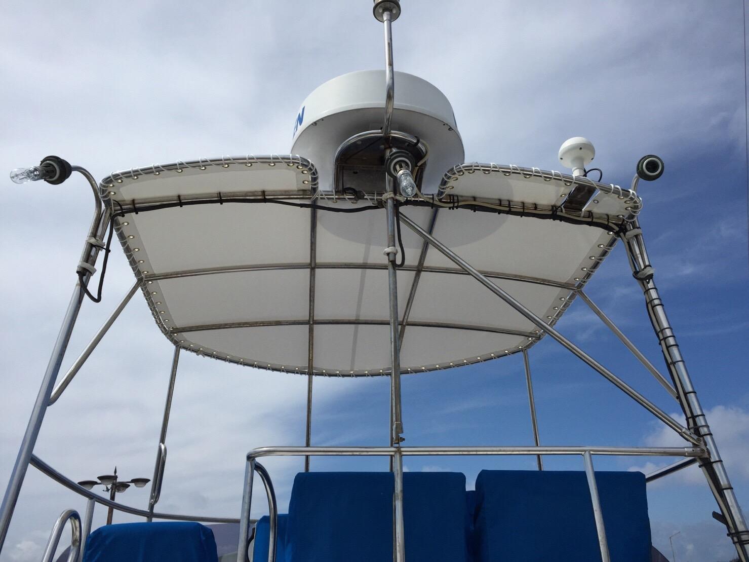 船の屋根シート正面です。